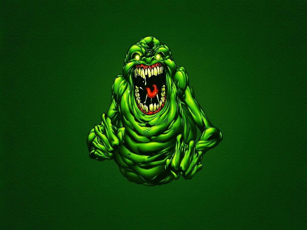 1024x768 Funny Green Ghostbusters Slimer Wallpapers