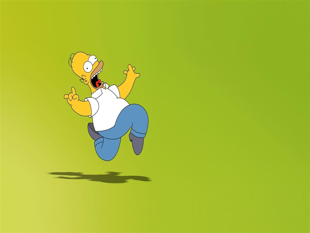 1024x768 Homer Simpson Fictional Character in Animated TV Show Wallpaper