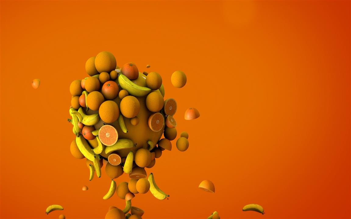 1152x720 3D Fruits 4K Background Wallpapers