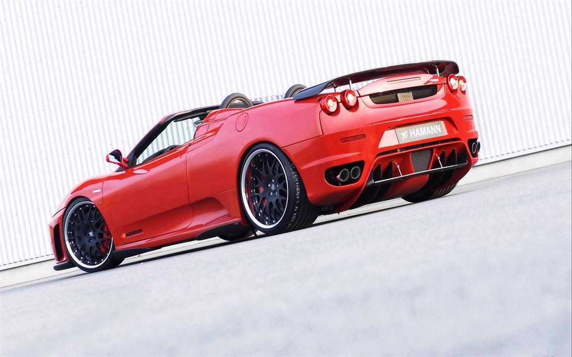 1152x720 Hamann Red Convertible Red Ferrari Wallpaper