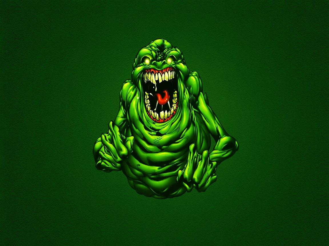 1152x864 Funny Green Ghostbusters Slimer Wallpapers