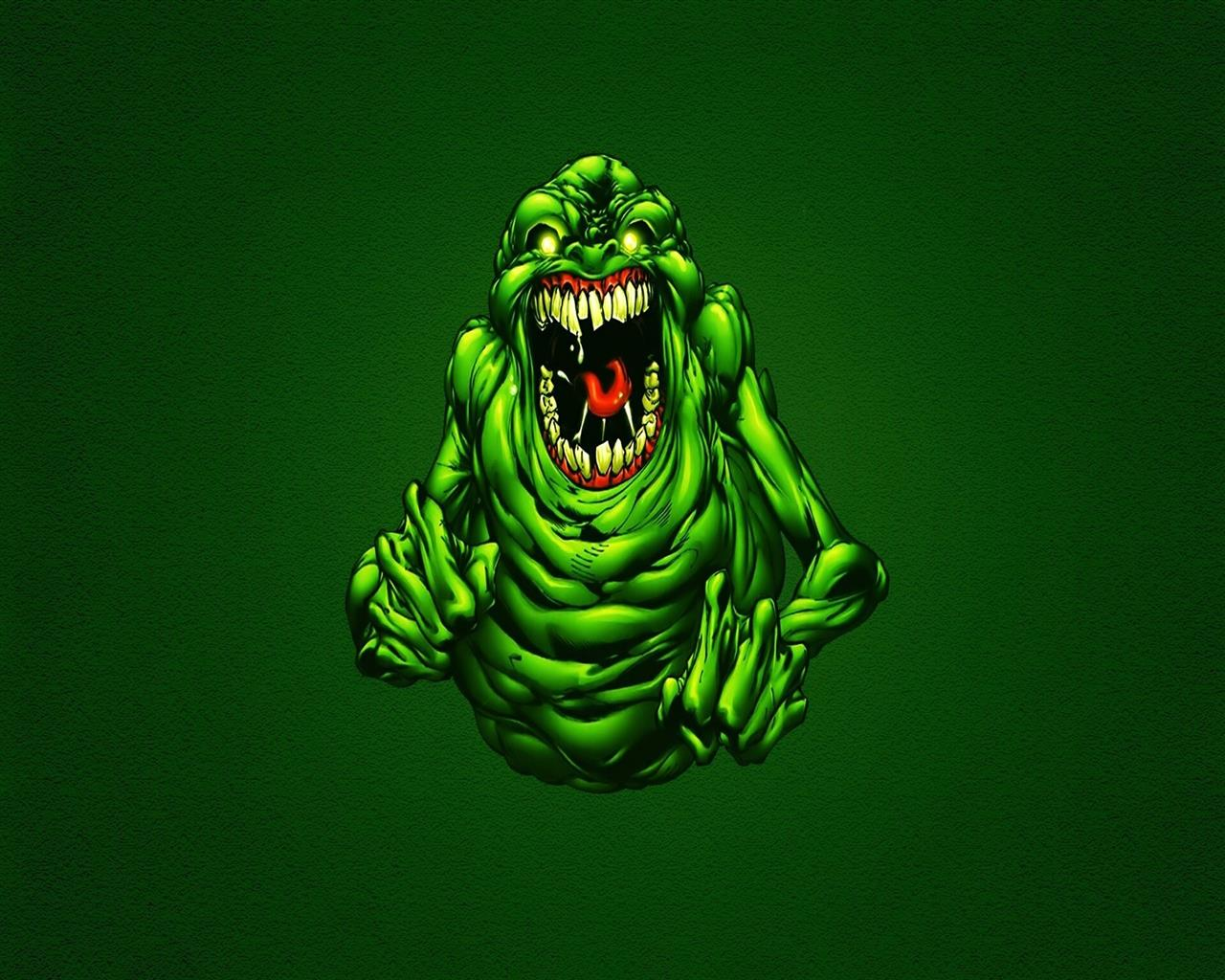 1280x1024 Funny Green Ghostbusters Slimer Wallpapers