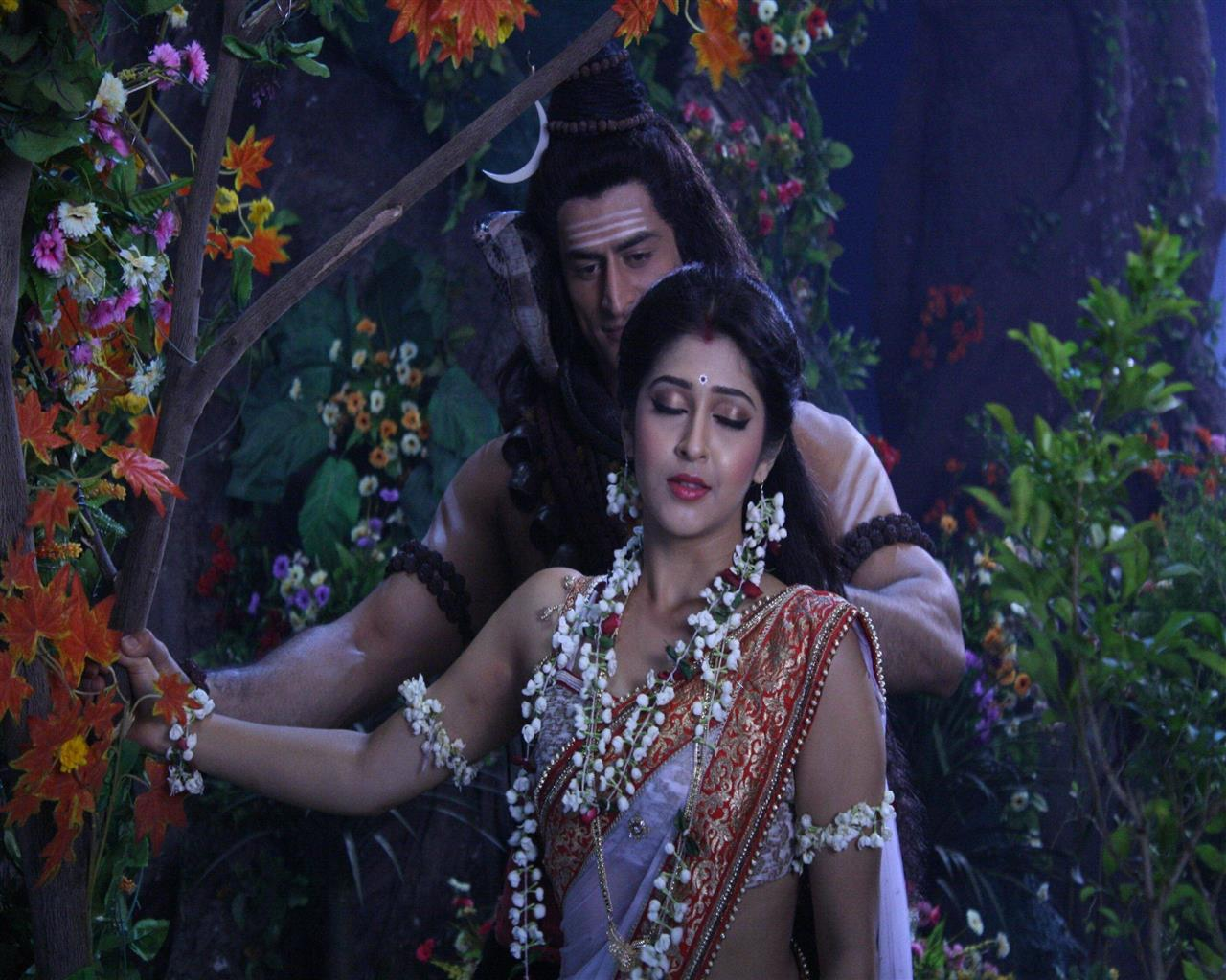 1280x1024 Lord Shiva and Parvati in Devon Ke Dev Mahadev Hindi TV Serial Wallpapers
