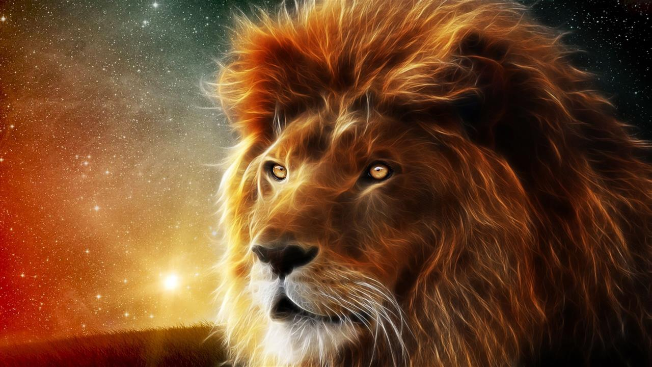 1280x720 3D Lion Animal 4K Wallpapers