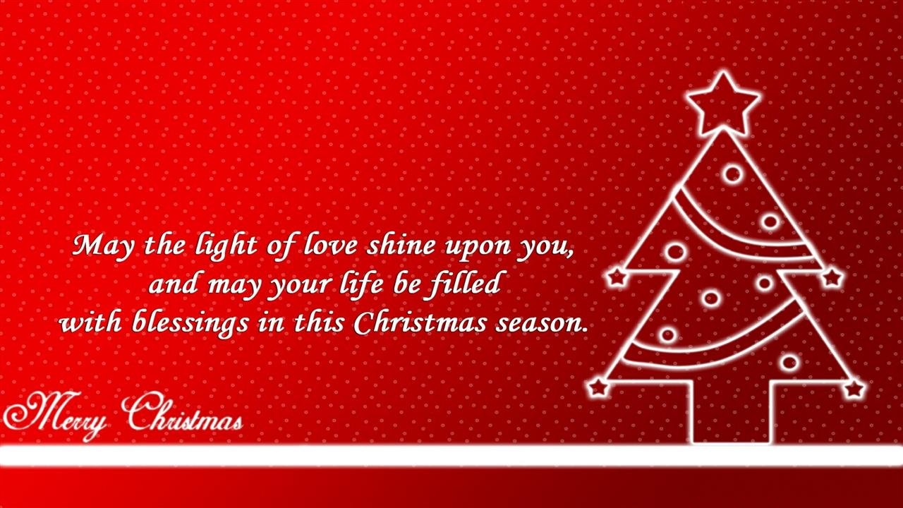 1280x720 Beautiful Christmas Greeting Quote HD Desktop Wallpapers