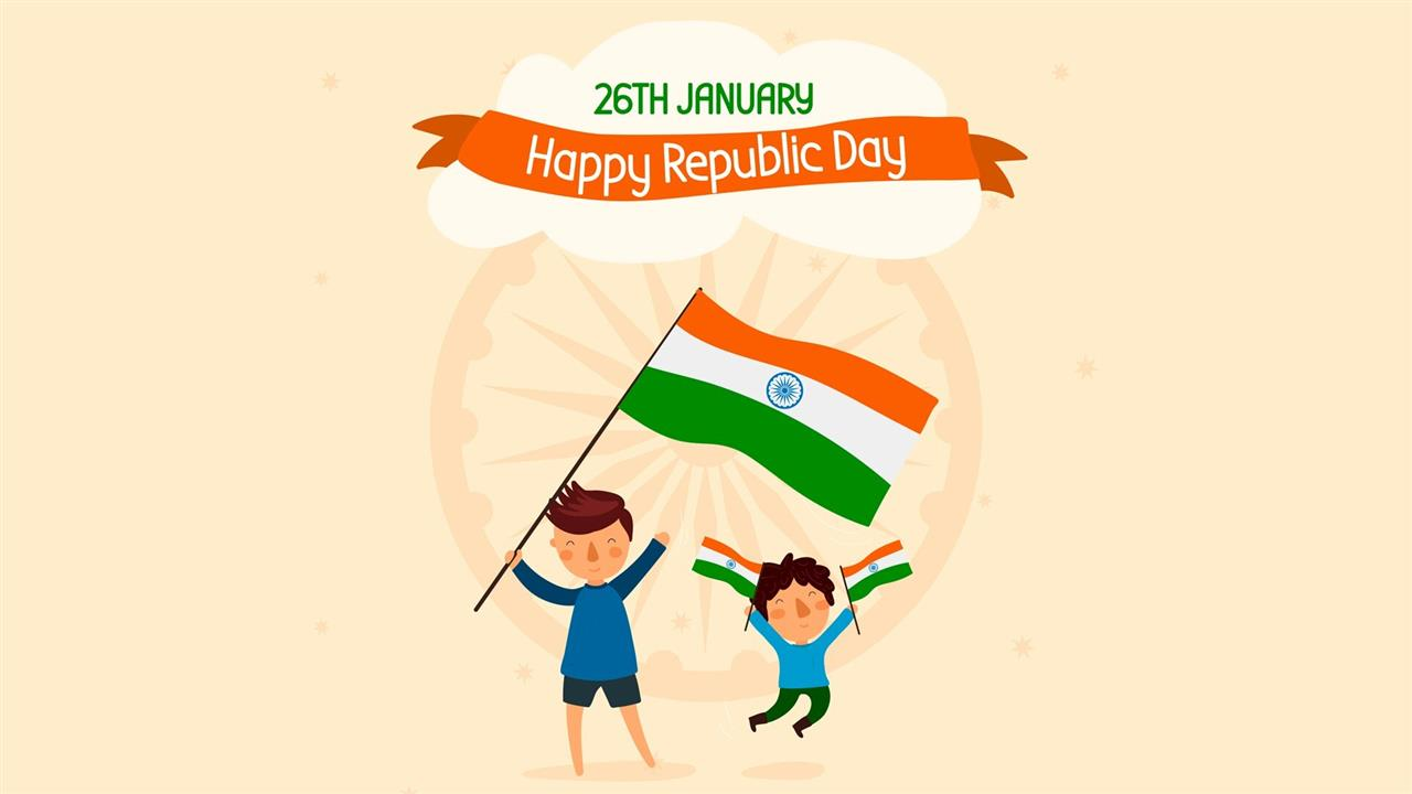 1280x720 Republic Day 26 January Holiday Desktop Wallpaper