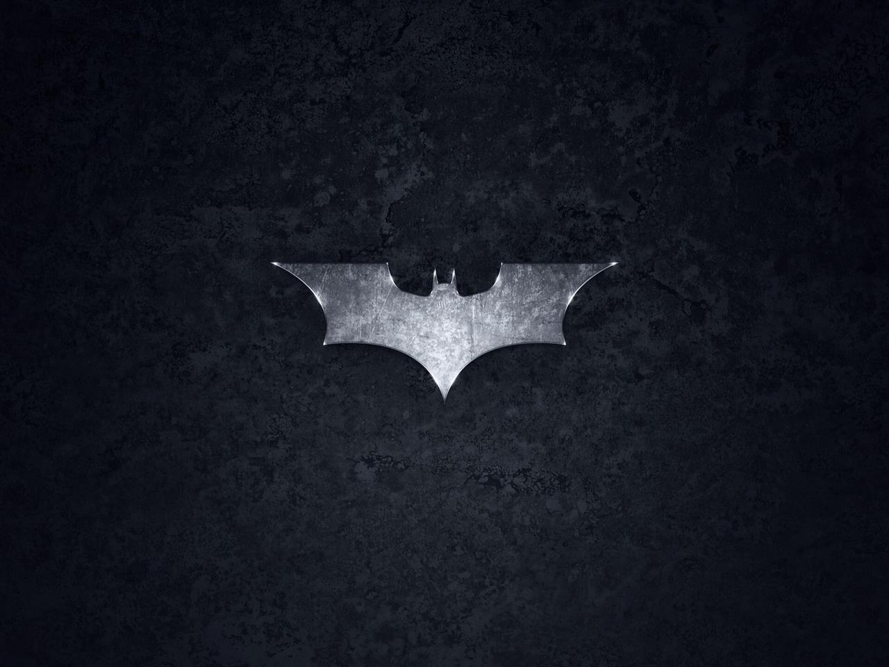 1280x960 Batman Logo in Black Background