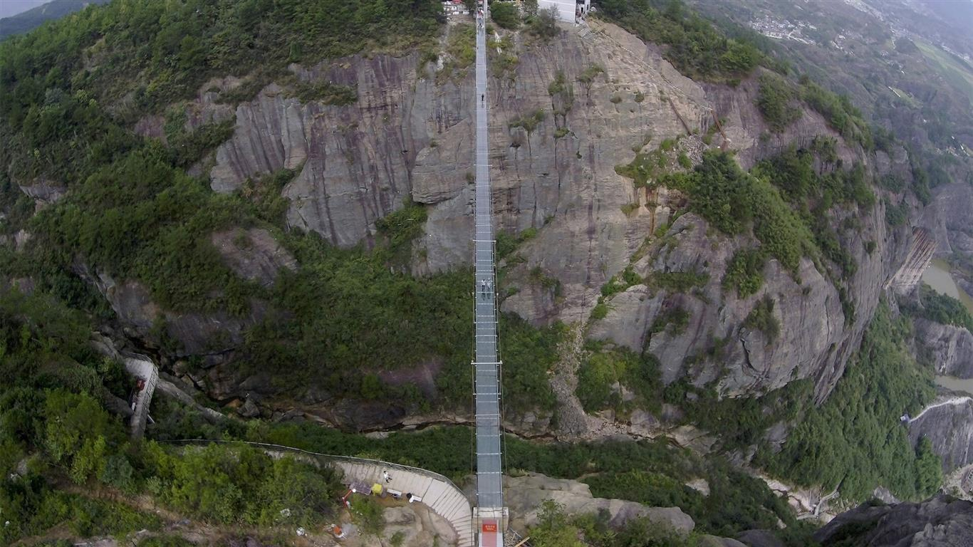1366x768 Amazing Glass Bridge in China HD Wallpapers