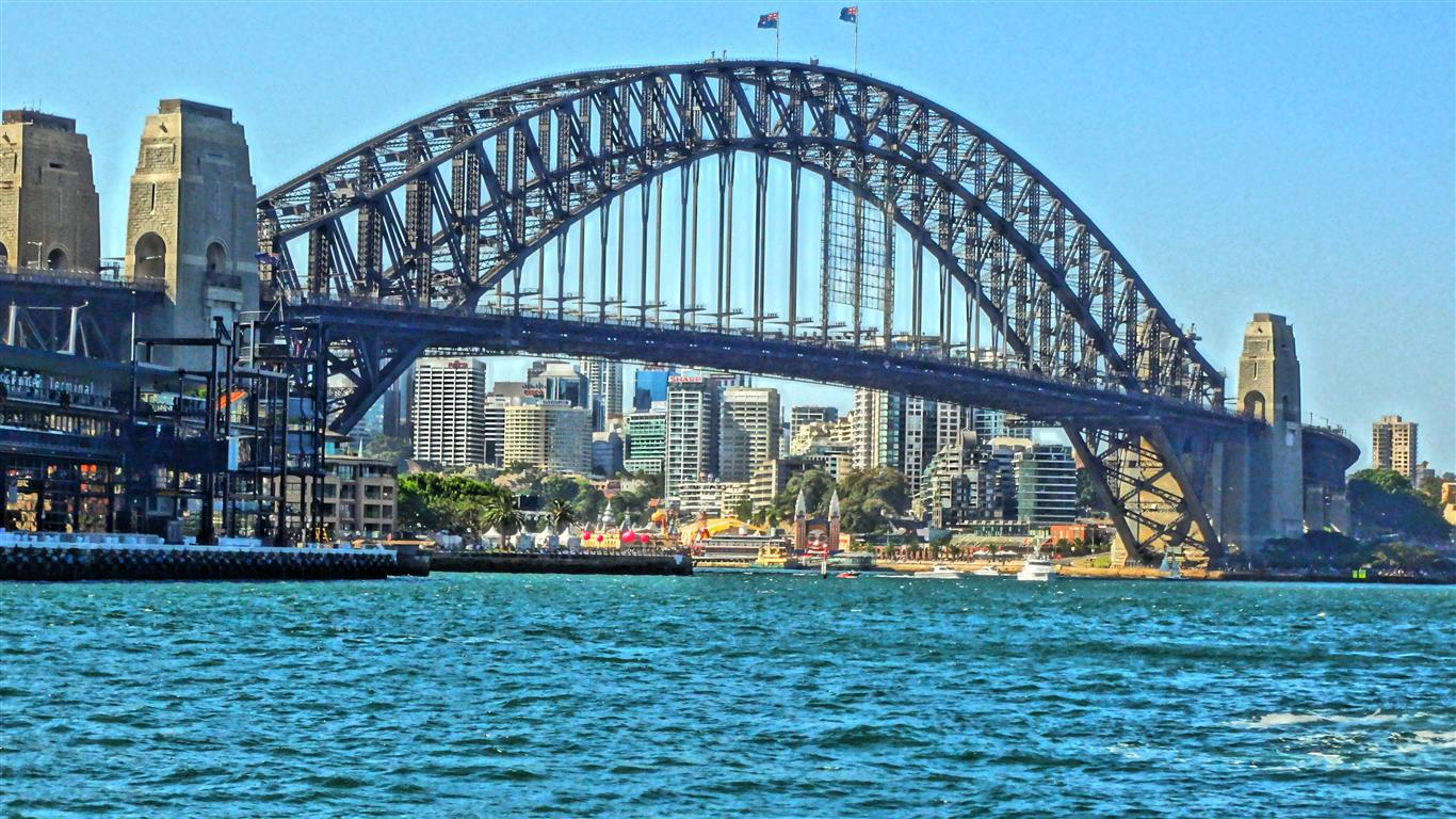 1366x768 Beautiful Sydney Harbour Bridge in Australia HD Wallpapers