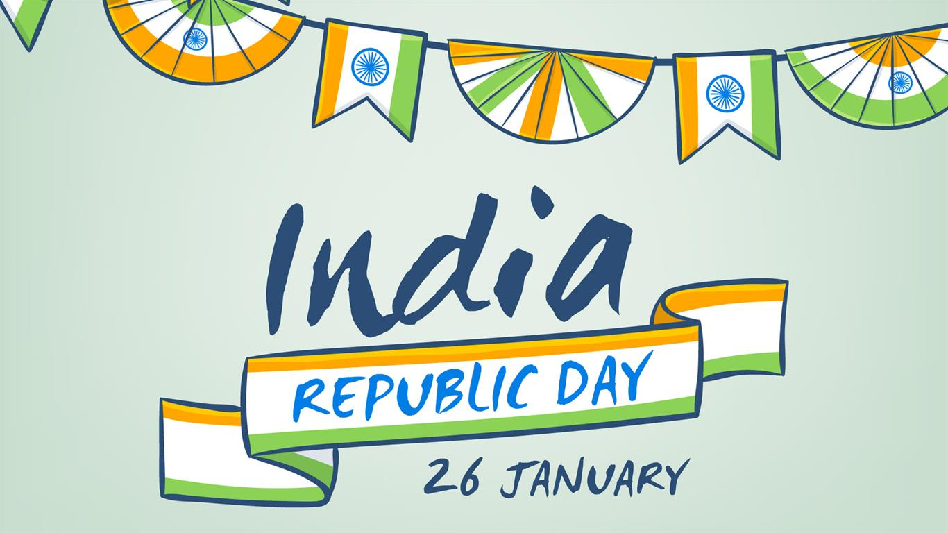 1366x768 India Republic Day Background