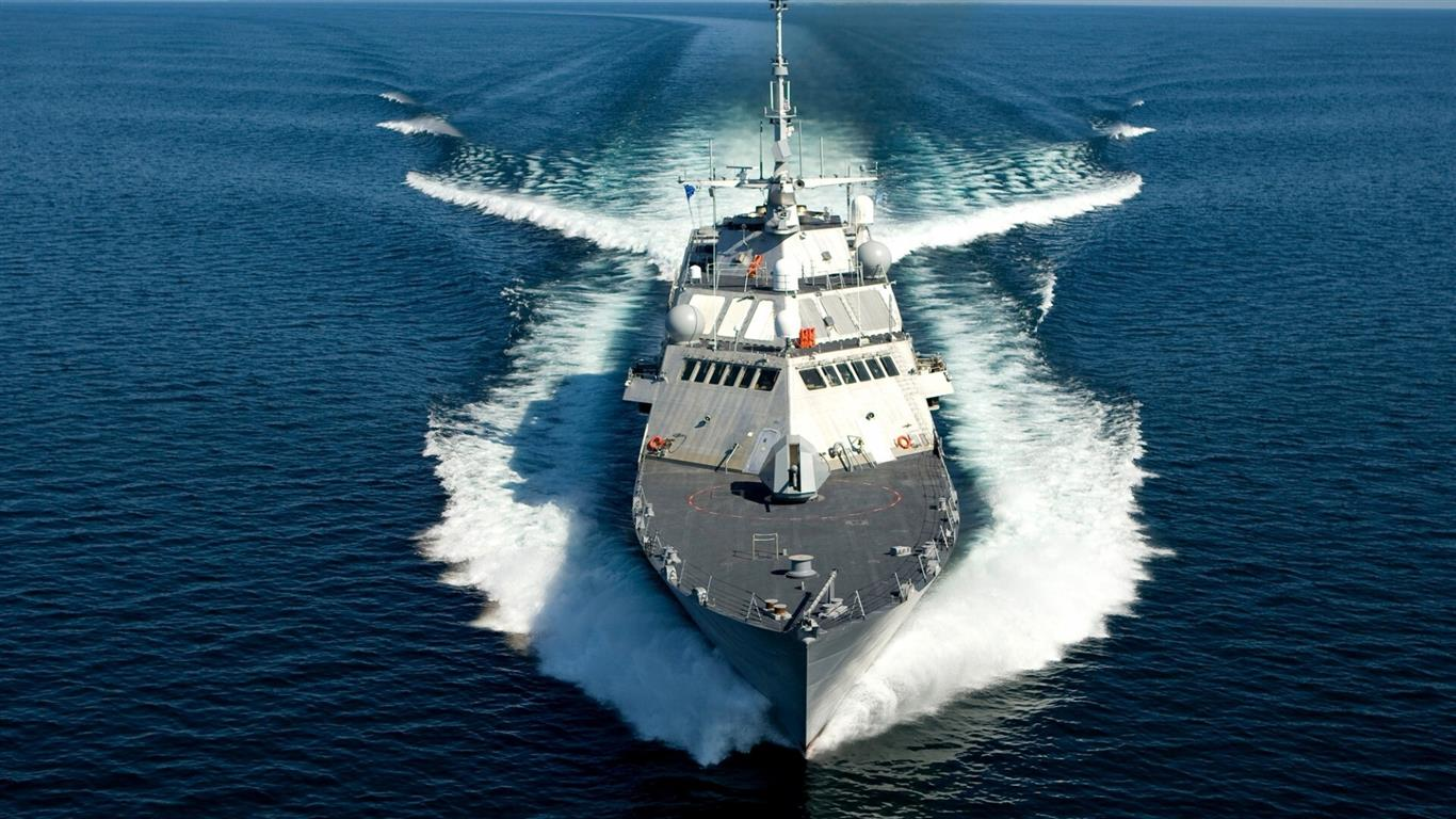 1366x768 Indian Navy Ship Wallpaper