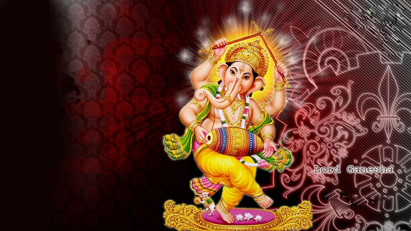 1366x768 Lord Ganesha Indian God HD Desktop Wallpapers