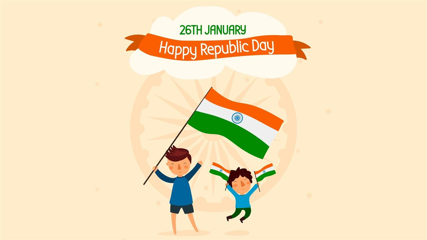 1366x768 Republic Day 26 January Holiday Desktop Wallpaper