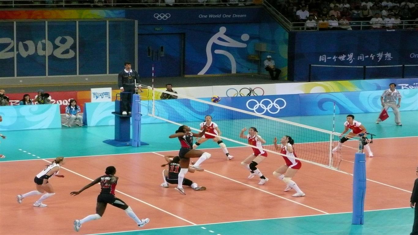 1366x768 Volleyball in China Olympics Wallpapers