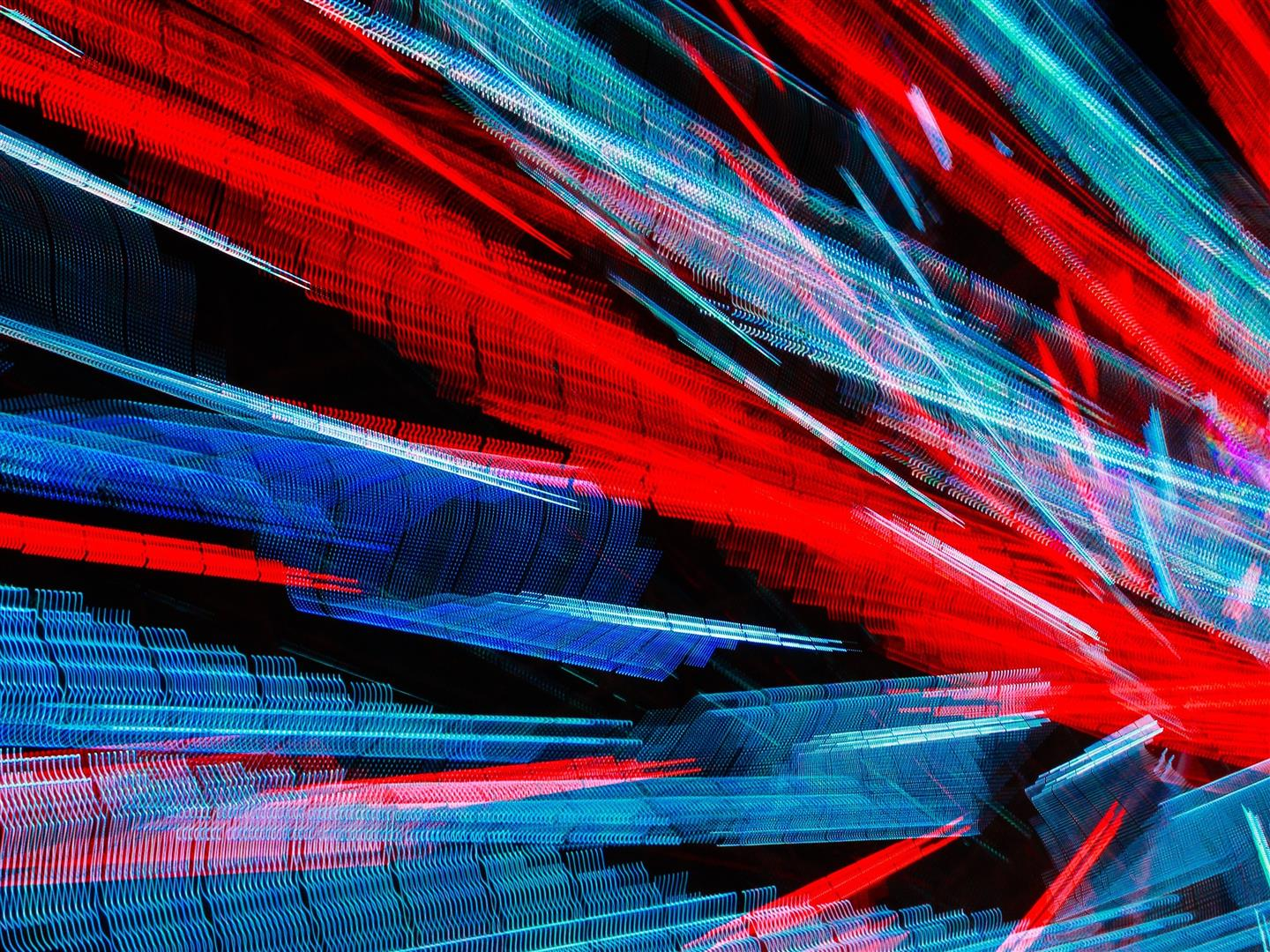 1440x1080 Red and Blue Design Abstract 4K Wallpaper