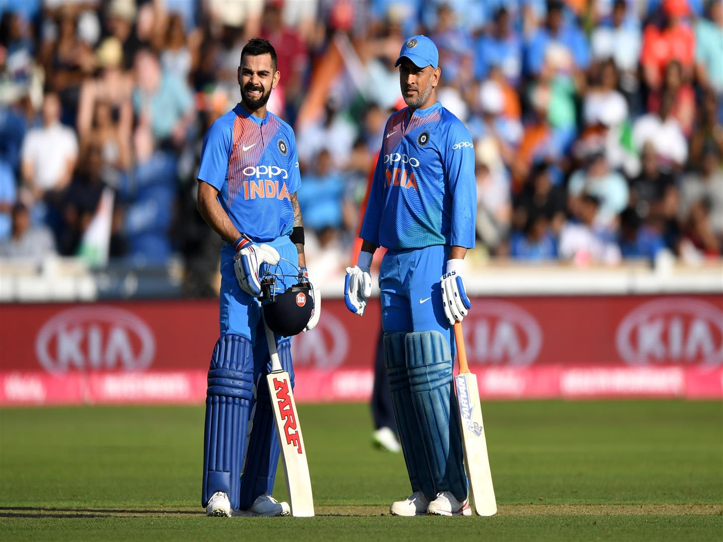 1440x1080 Virat Kohli and MS Dhoni in Cricket Worldcup 2019 4K Wallpaper