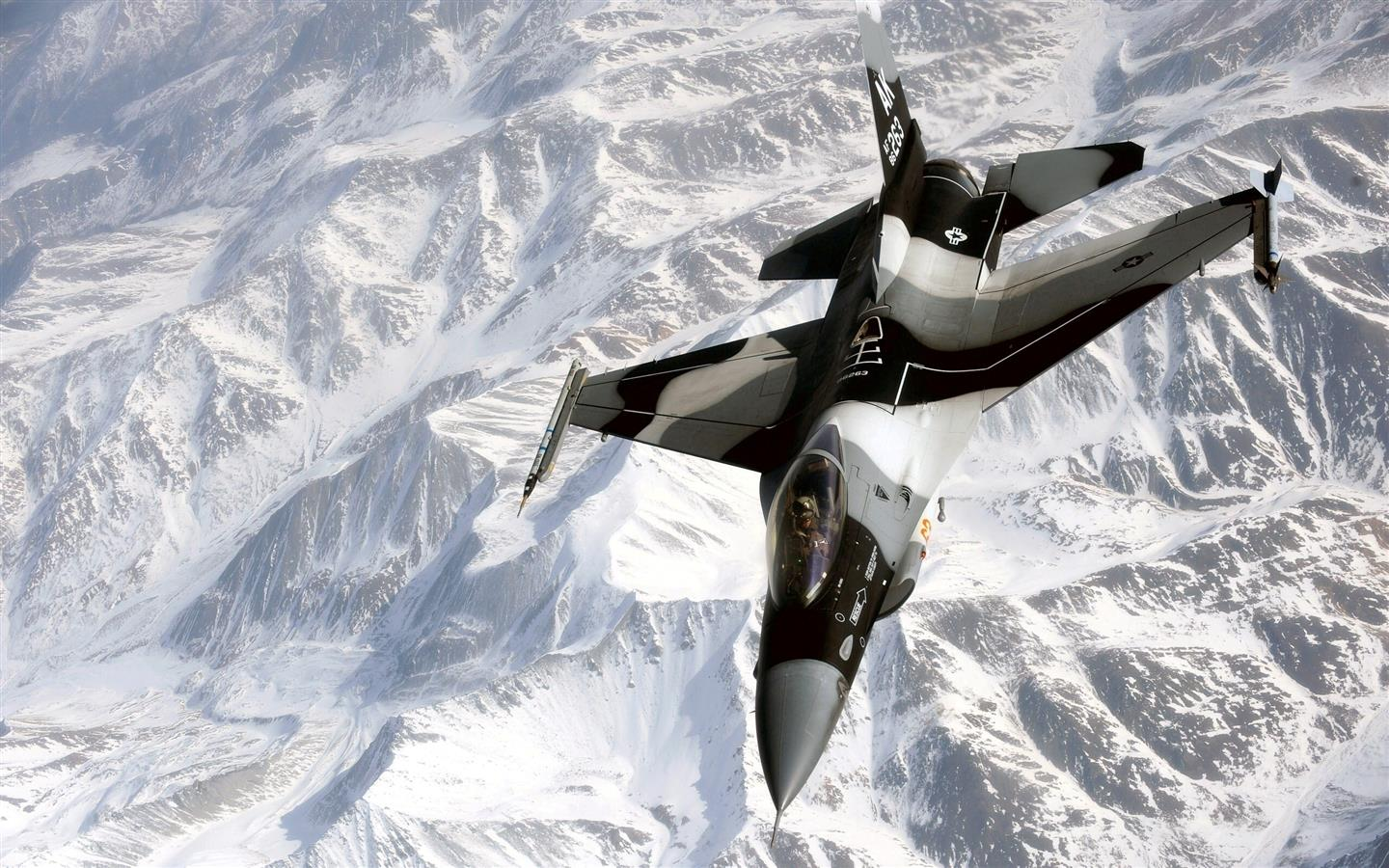 1440x900 AK 263 Fighter Jet on Ice Mountain