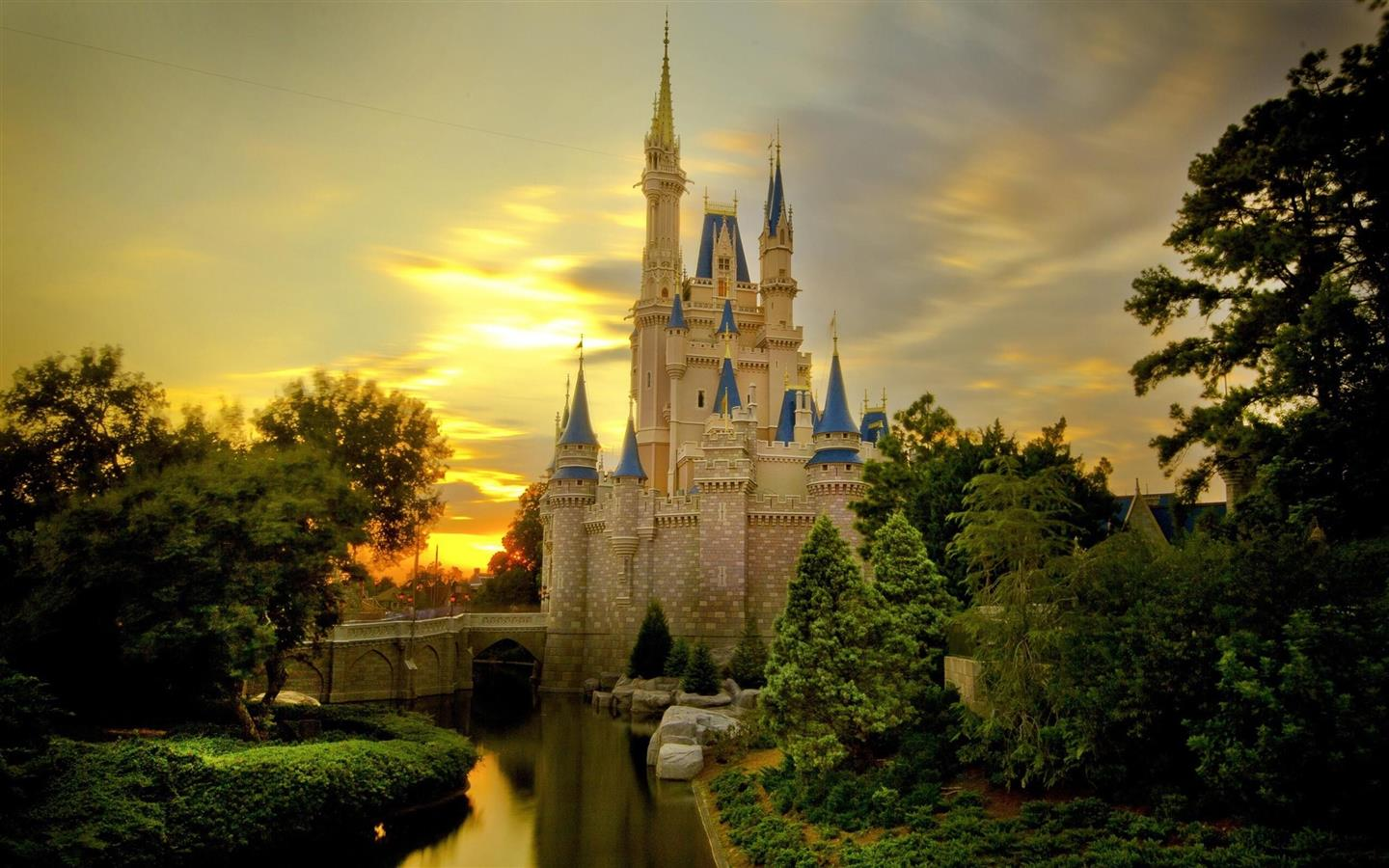 1440x900 Amazing Beautiful Cinderella Castle Image Free Download