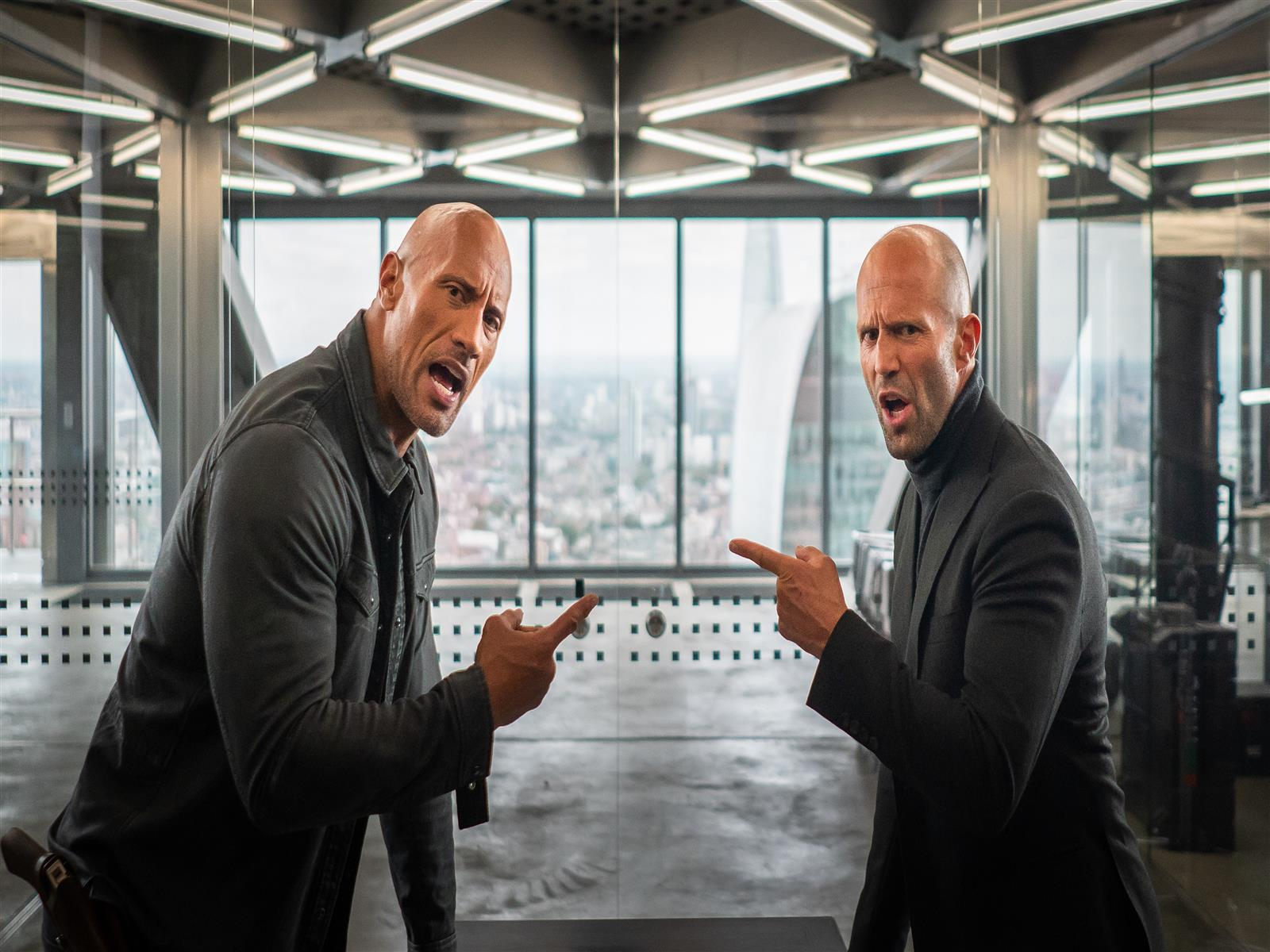 1600x1200 Fast and Furious Presents Movie Actor Dwayne Johnson as Hobbs and Jason Statham as Shaw