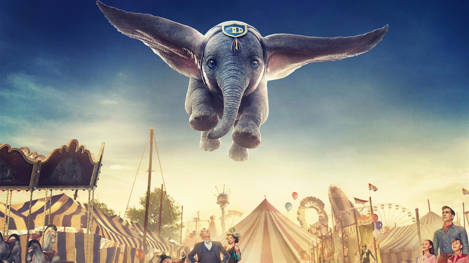 1600x900 5K Wallpaper of 2019 Dumbo Animation Film
