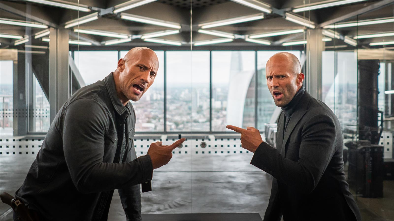 1600x900 Fast and Furious Presents Movie Actor Dwayne Johnson as Hobbs and Jason Statham as Shaw