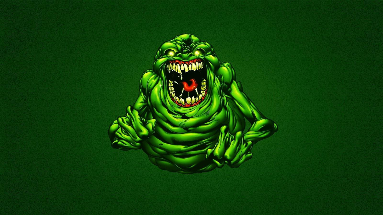 1600x900 Funny Green Ghostbusters Slimer Wallpapers