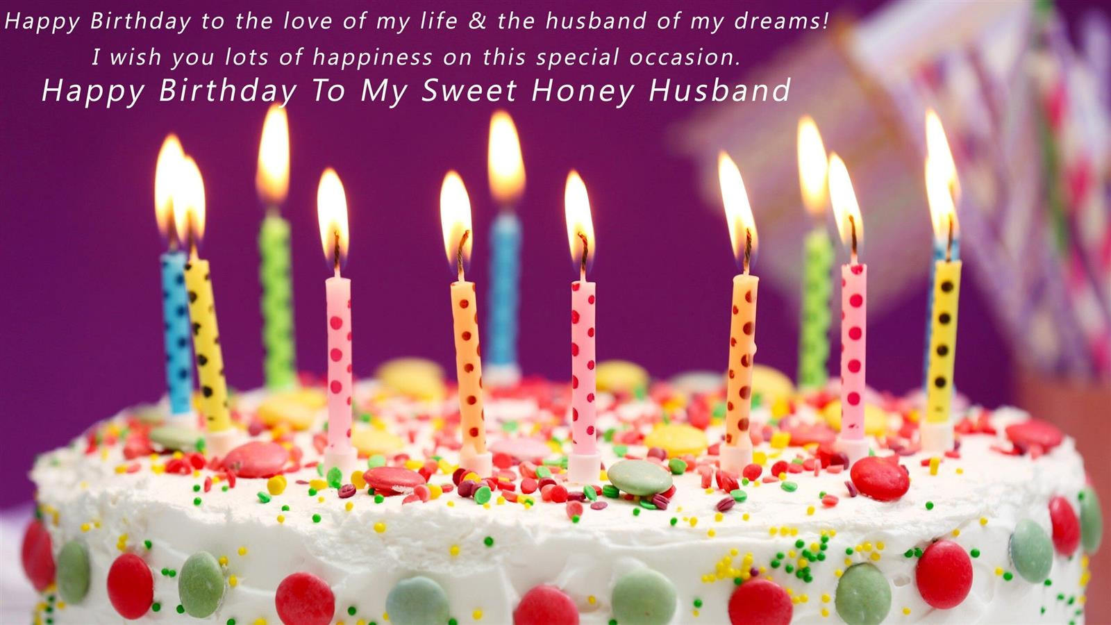1600x900 Wish You Happy Birthday My Sweet Honey Husband