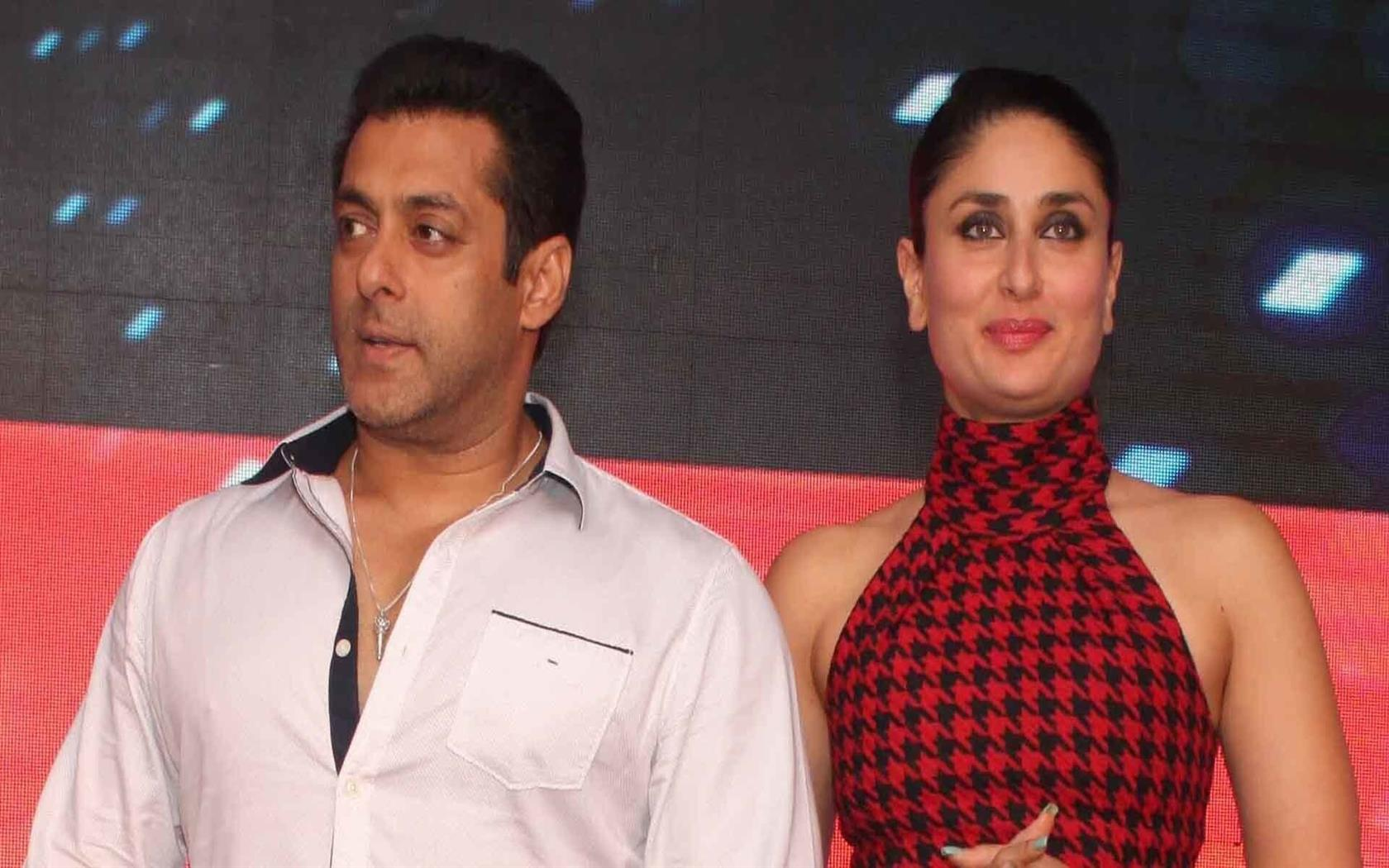 1680x1050 Film Star Salman Khan with Kareena Kapoor