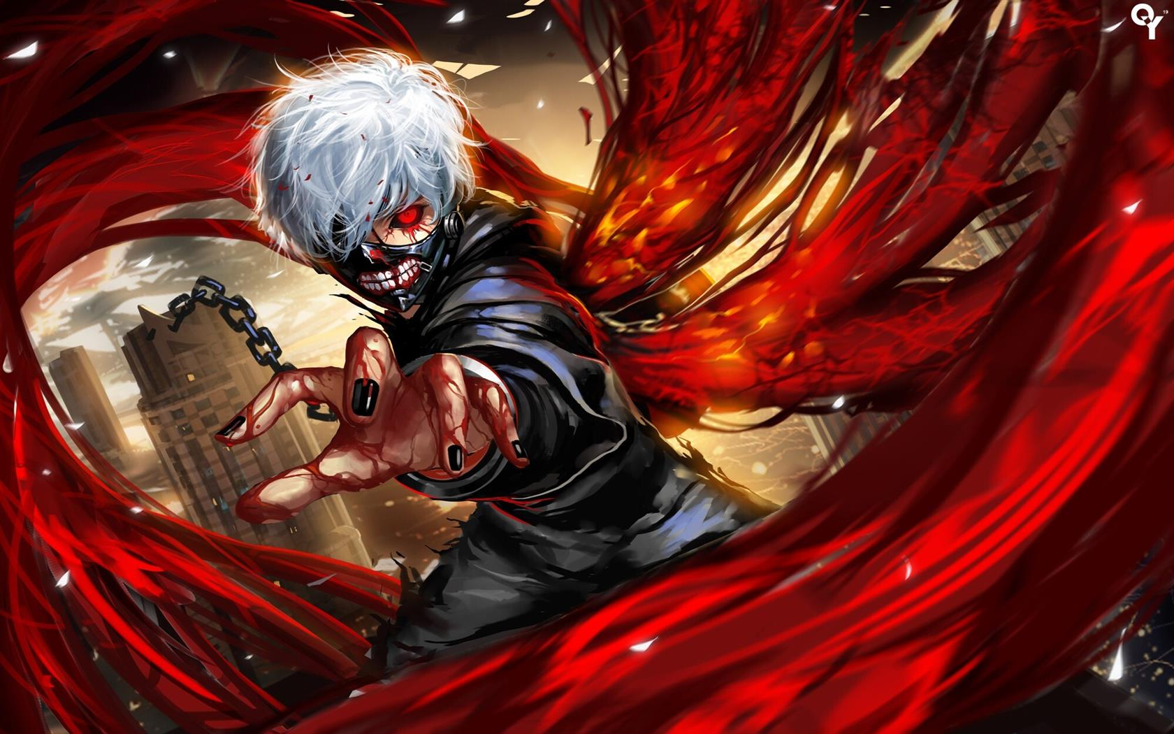 1680x1050 Tokyo Ghoul Manga Series Cartoon Wallpapers