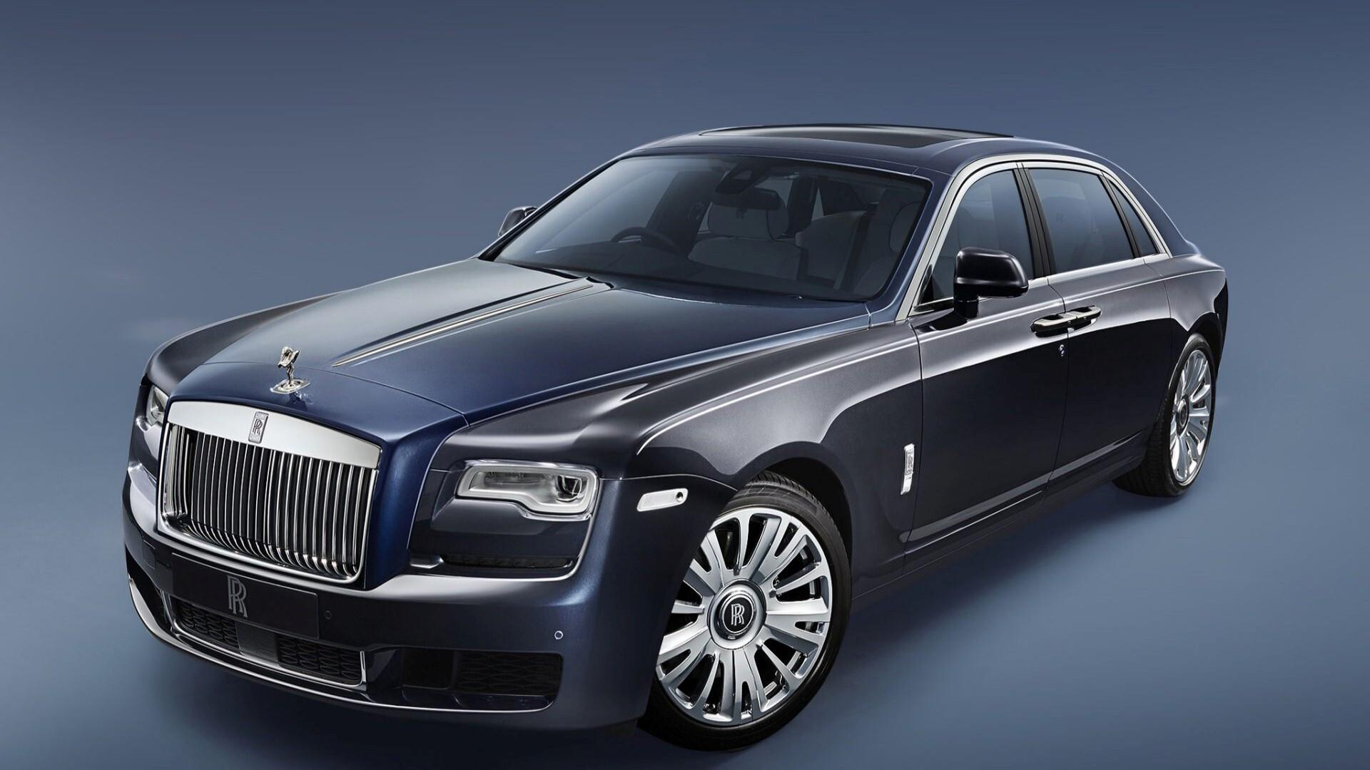 1920x1080 2018 Rolls Royce Ghost Series II Black Car