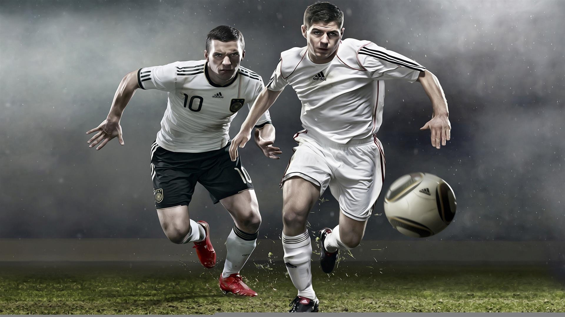 1920x1080 3D Football Players Play Game High Quality Photos