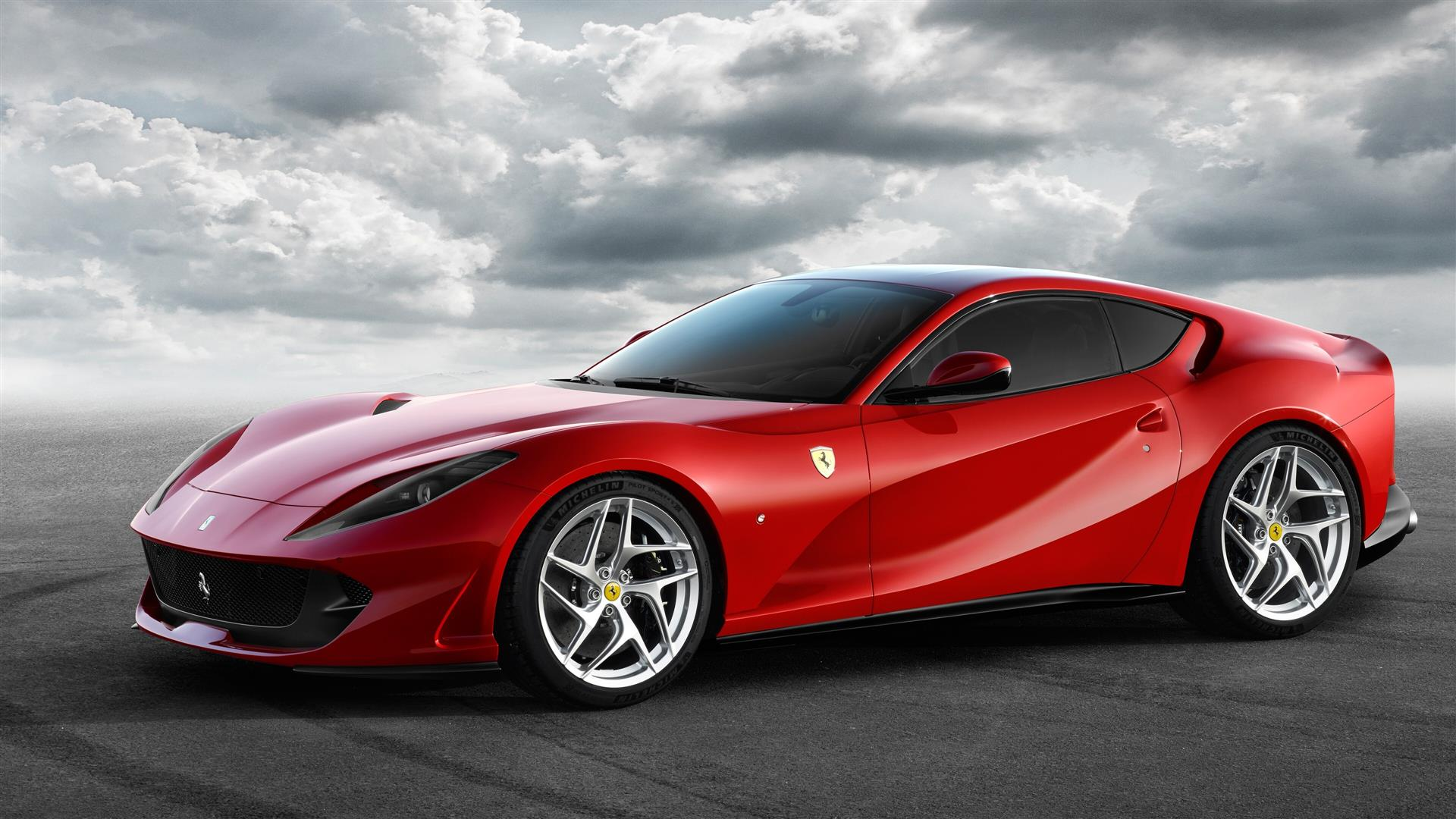 1920x1080 4K Photo of 2019 Ferrari 812 Superfast Red Car