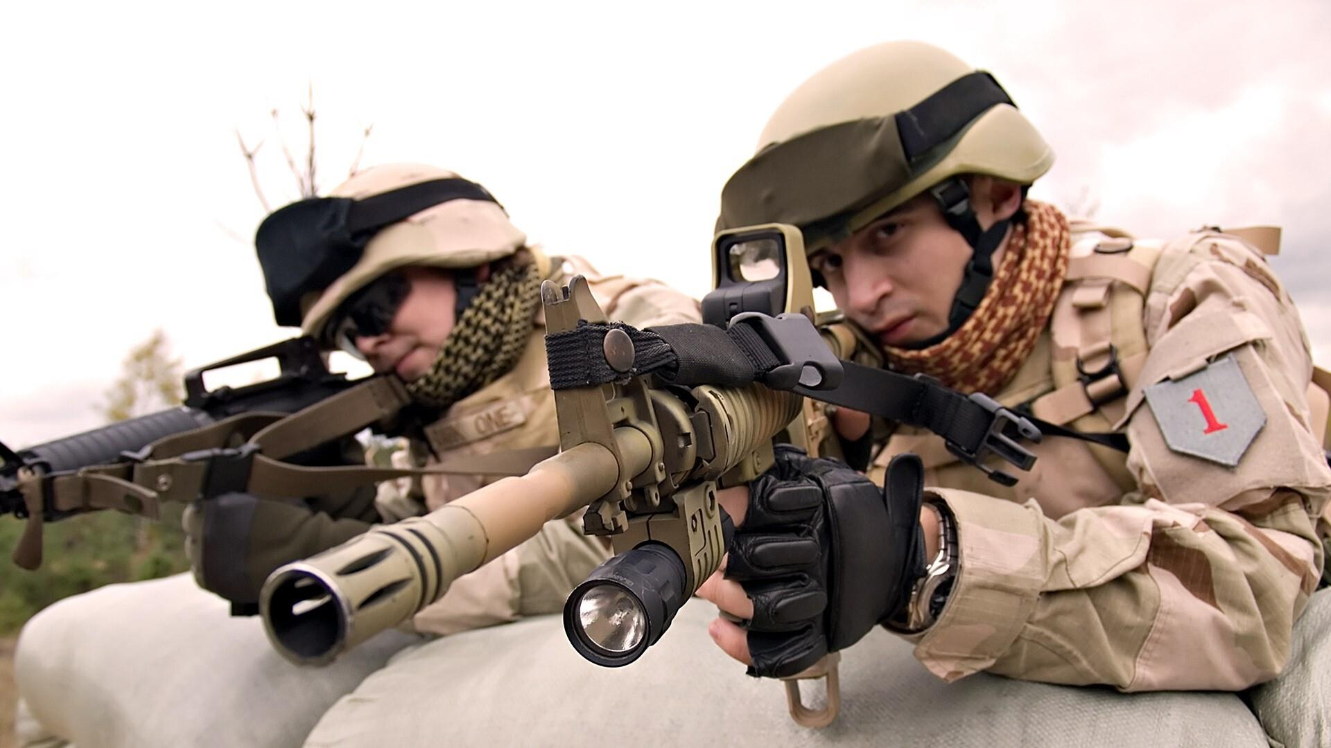 1920x1080 Army Soldiers with Sniper Rifle Photo