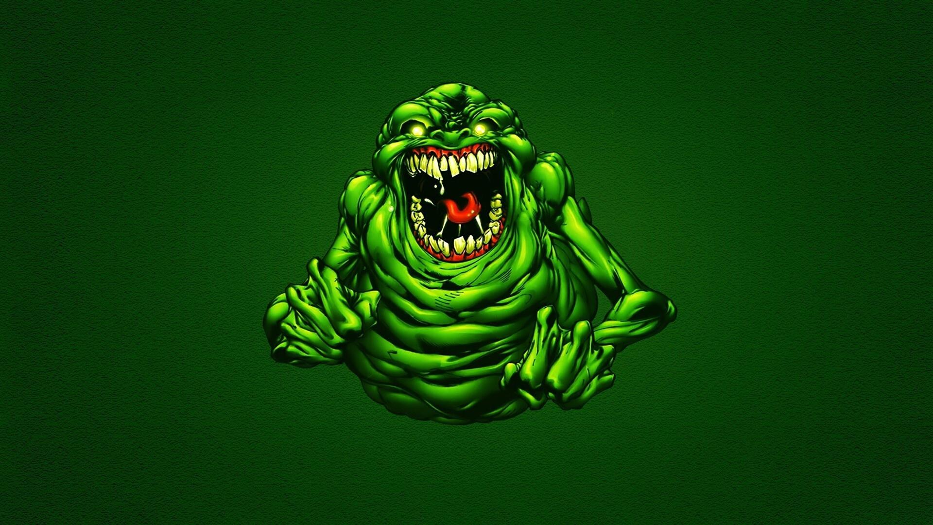 1920x1080 Funny Green Ghostbusters Slimer Wallpapers