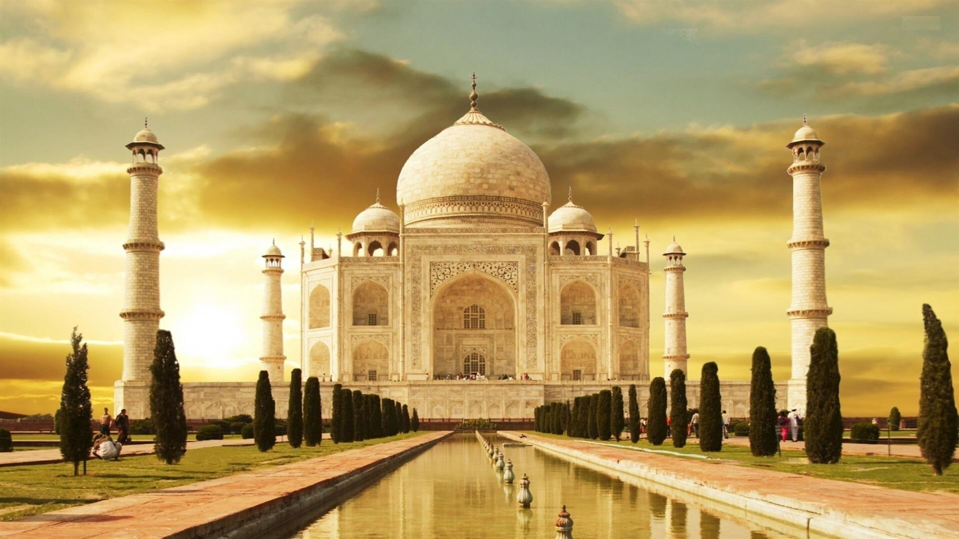1920x1080 Taj Mahal Wonders of the World in Agra India HD Wallpapers