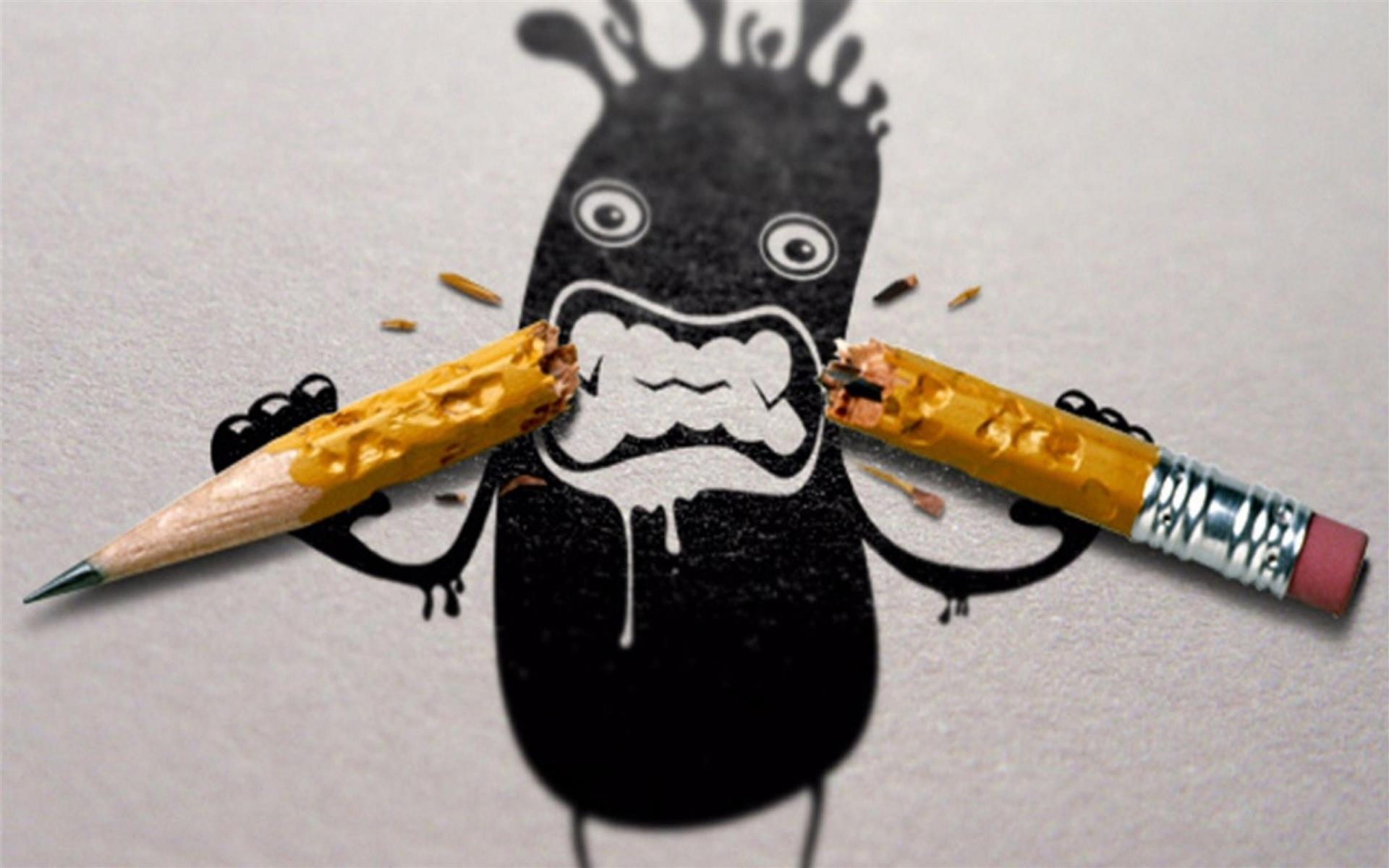 1920x1200 Funny Pencil Drawing Photo