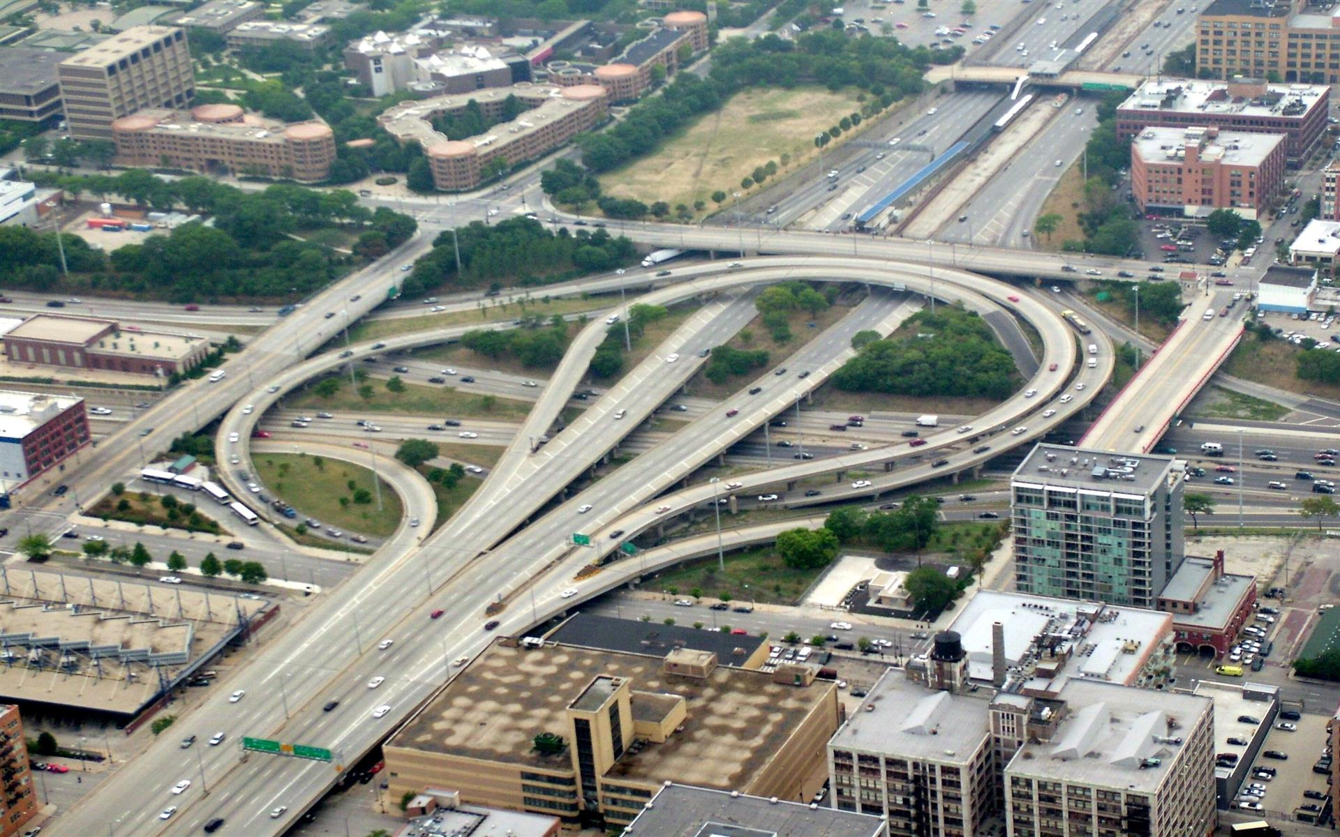 1920x1200 Overfly Circle Interchange Chicago