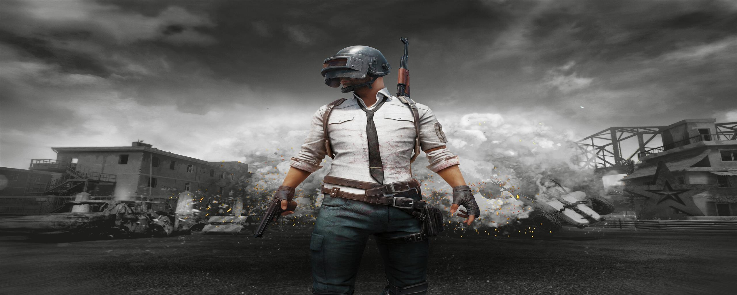 2560x1024 4K Poster of PlayerUnknowns Battlegrounds Game