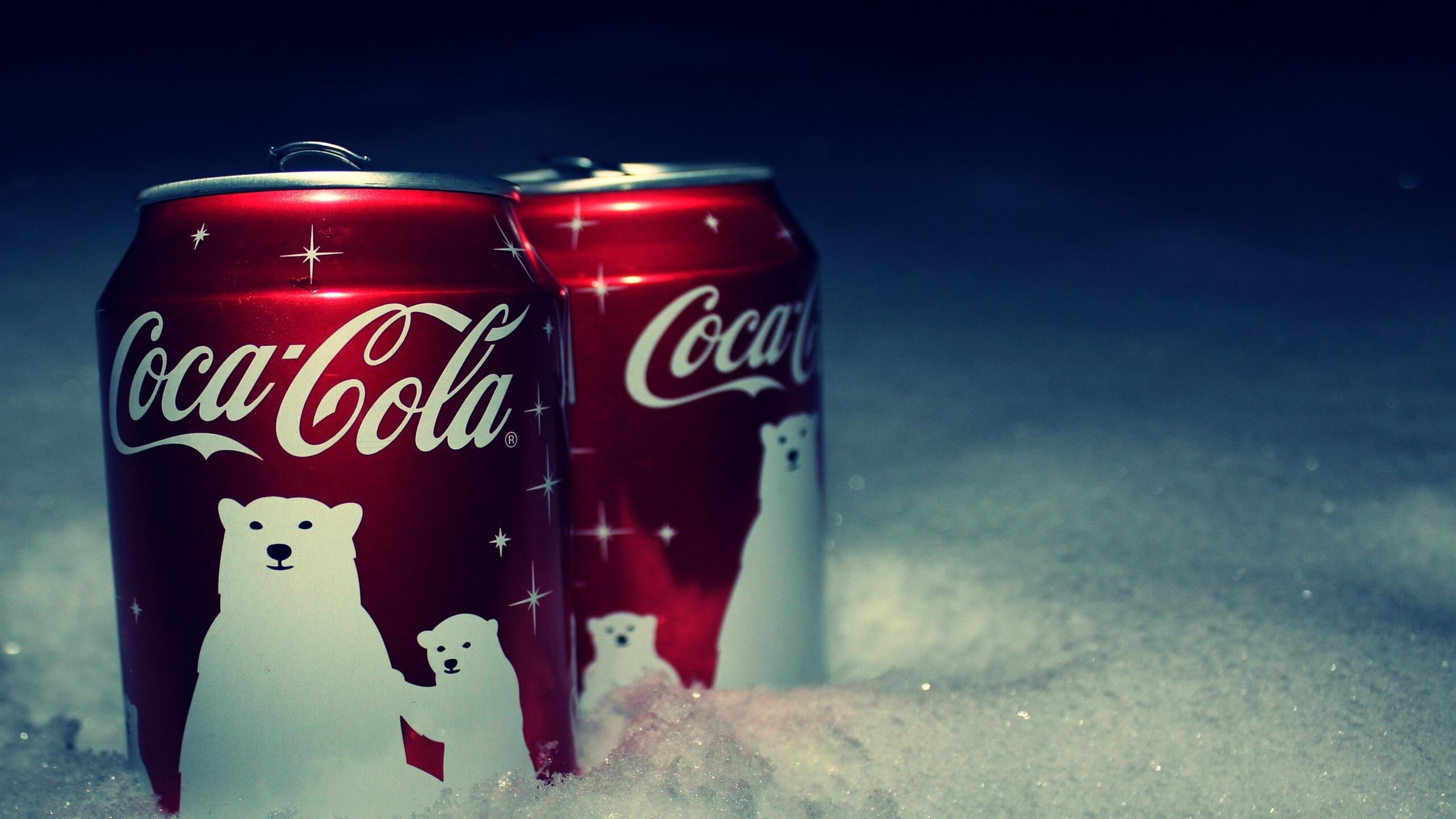 2560x1440 Coca Cola on Christmas Holiday Wallpaper