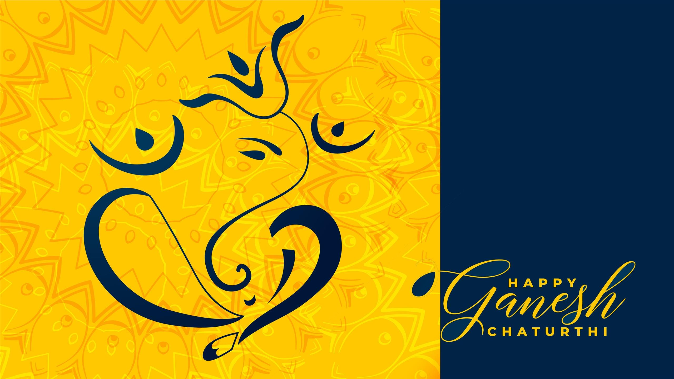 2560x1440 Happy Ganesh Chaturthi 4K Wallpapers