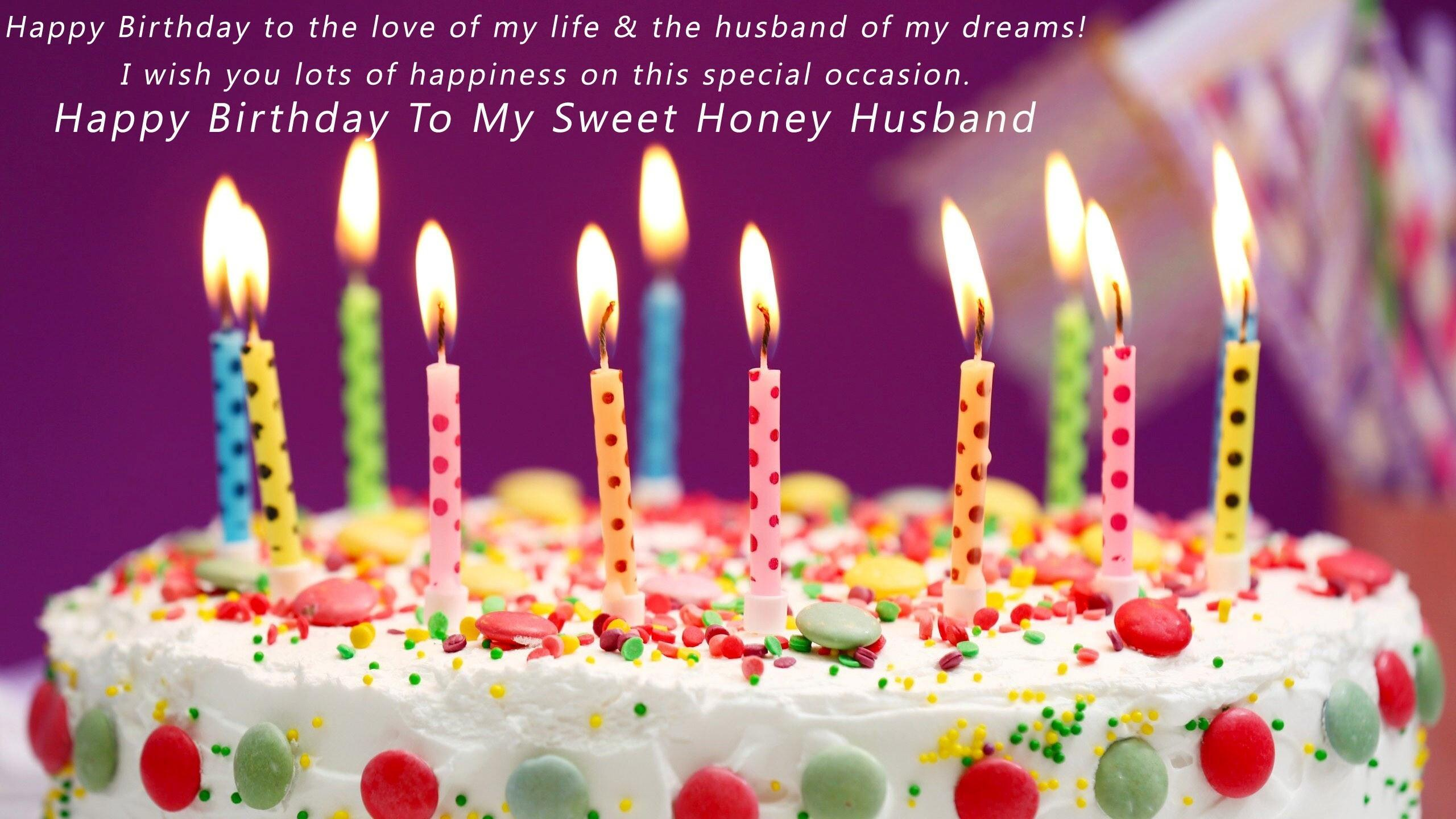 2560x1440 Wish You Happy Birthday My Sweet Honey Husband