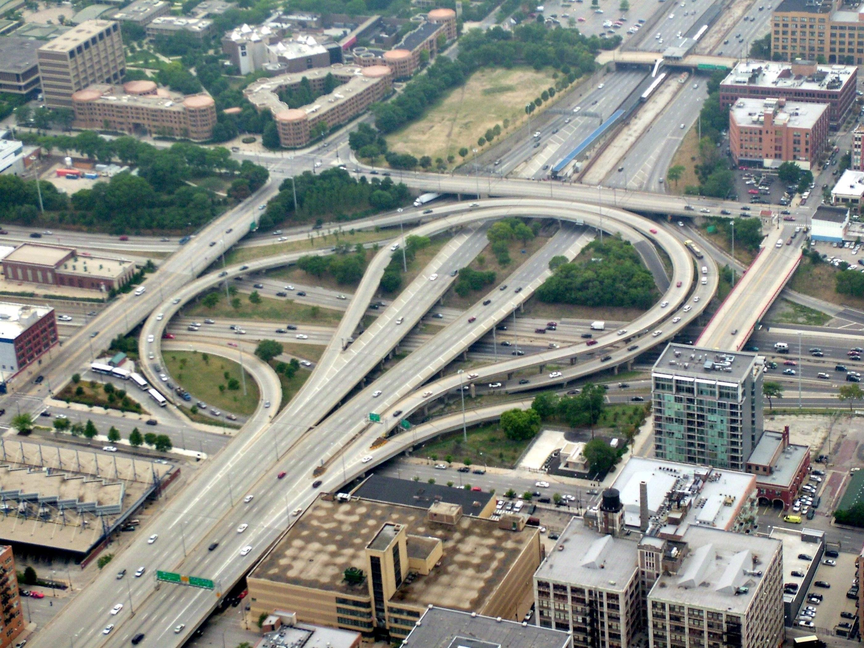 2800x2100 Overfly Circle Interchange Chicago