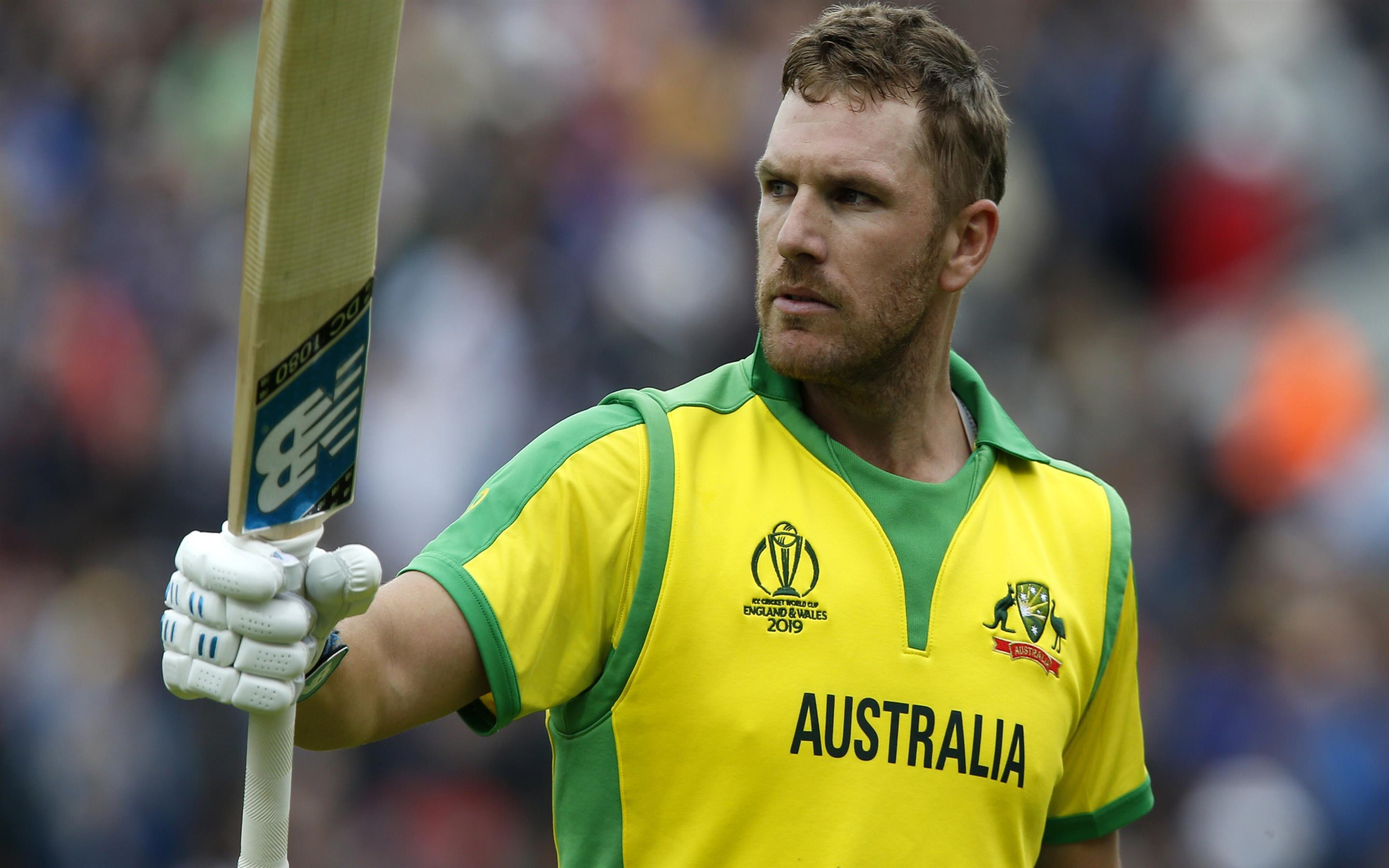 2880x1800 Aaron Finch in 2019 Cricket World Cup 4K Wallpaper