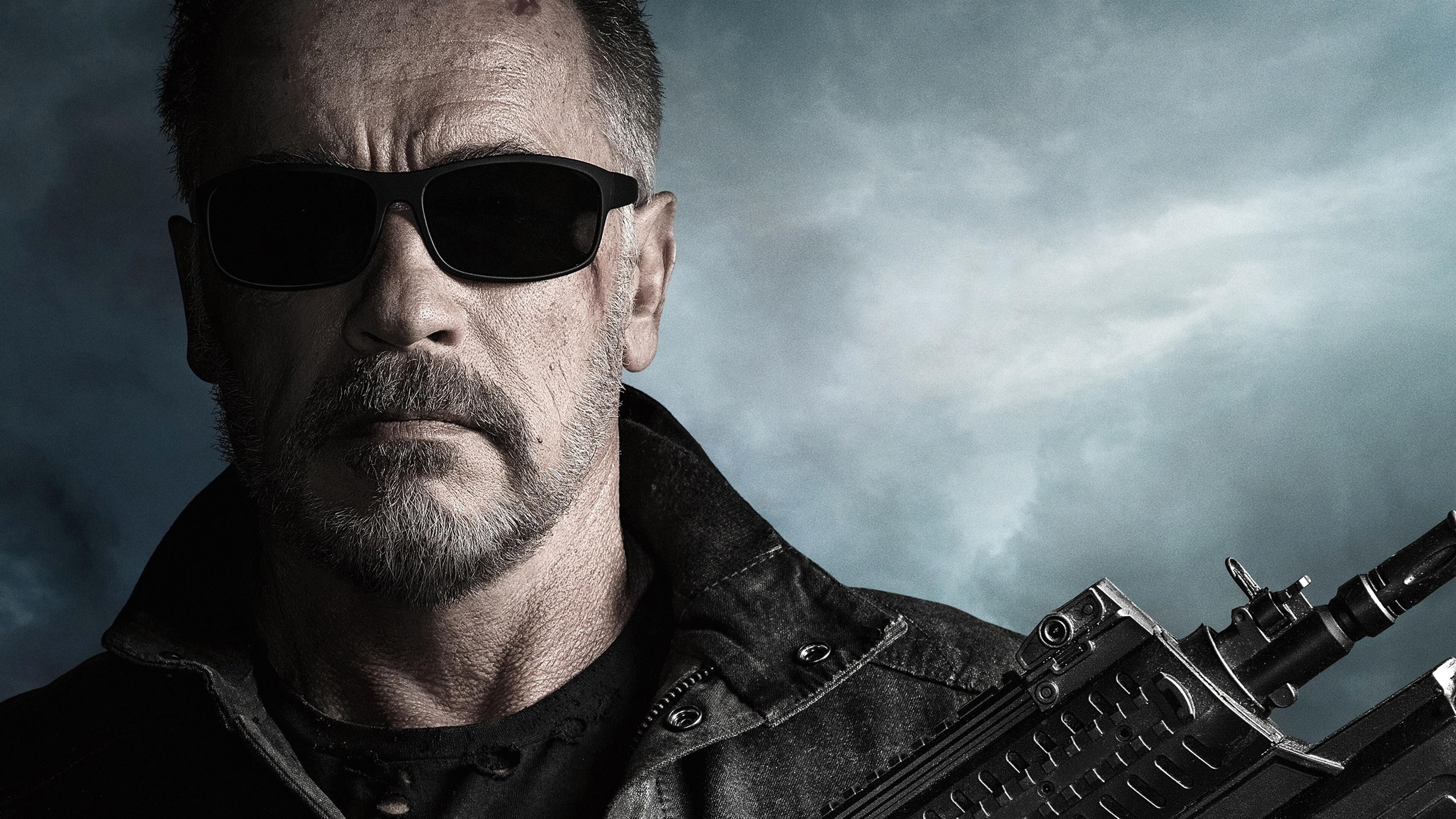 3554x1999 4K Wallpaper of Terminator Dark Fate Actor Arnold Schwarzenegger