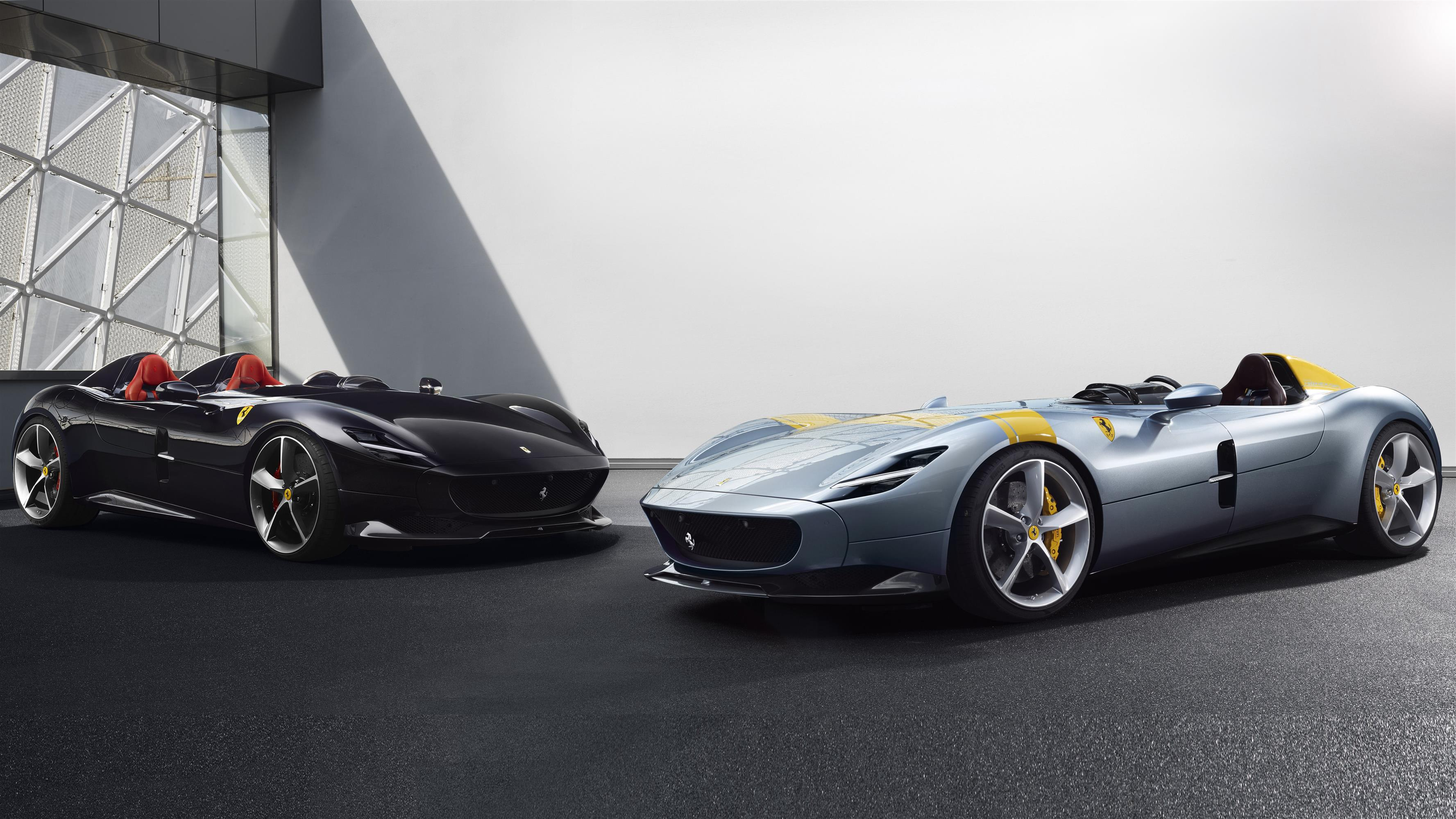 3554x1999 8K Wallpaper of Ferrari Monza SP2 Cars Model