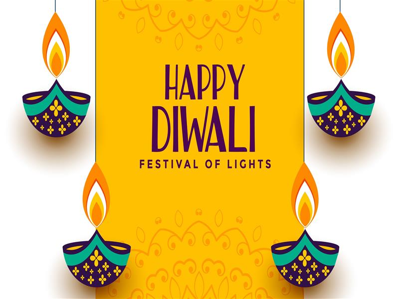 800x600 Festival of Lights Diwali 2019 Yellow Background 4K Wallpaper
