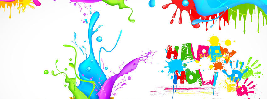 Beautiful Happy Holi Colors FB Cover Images