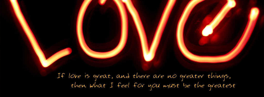 Beautiful Love Thought Facebook Cover Photo