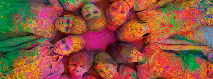 Best Colorful Holi Festival Facebook Cover