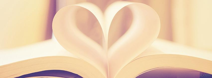 Book Page Love Heart Facebook Cover